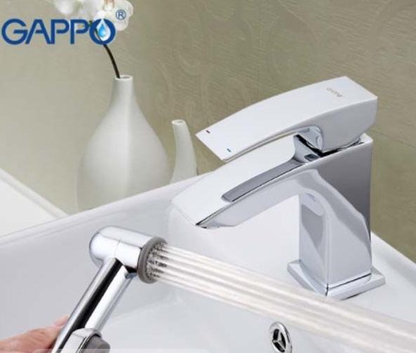 Смеситель для умывальника GAPPO G1207 Jacob с гигиеническим душем