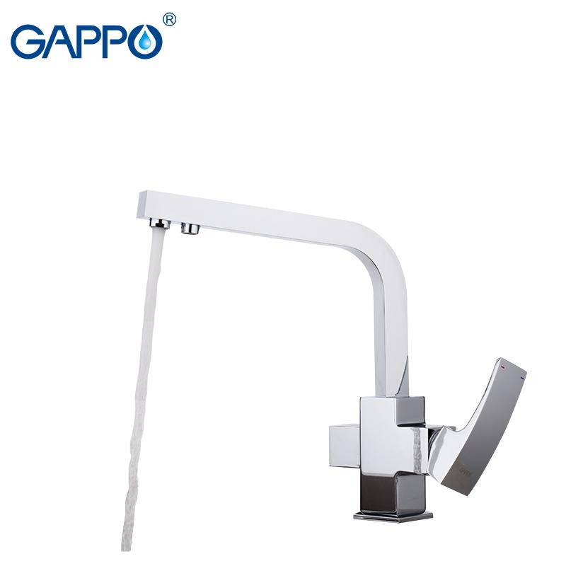 Смеситель для кухни Gappo G4307 на две воды